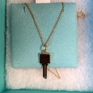 Tiffany & Co. Modern Keys Square Key Pendant
